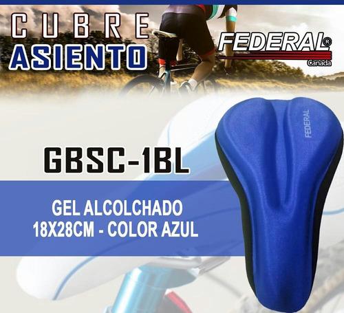 Forro Acolchado Gel Para Bicicletas Azul