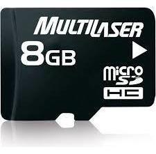 Cartão Memória 08gb Micro Sd Class 4 Multilaser