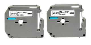 Fita Compatível Para Rotulador Brother 12mm X 8m Kit C/2 Und