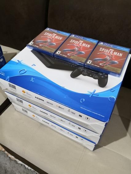 Playstation 4 Slim 1tb Juego Gratis Spiderman Ps4