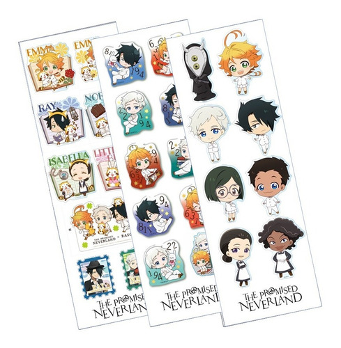 Plancha De Stickers De The Promised Neverland Anime