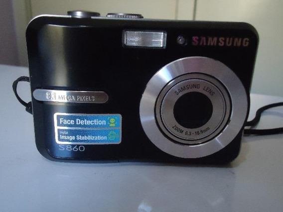 Camera Digital Samsung S860 8.1 Mp + Cartão Sd 1 Gb