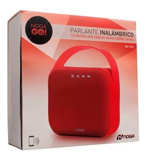 Parlante Portatil Noganet Ng-p65 Rojo Usb Sd Bluetooth