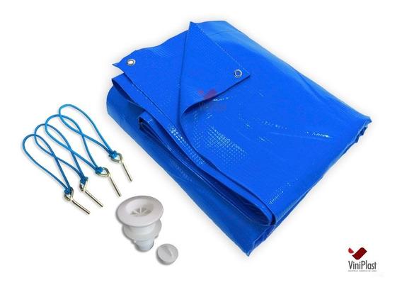 Capa De Piscina 10 Em 1 Pvc 500 Proteção+termica 6x3 M