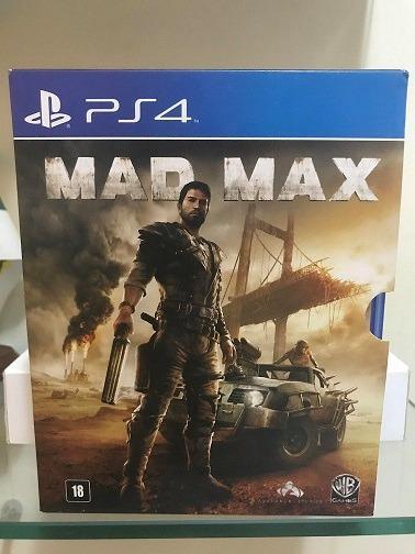 Jogo Mad Max Ps4 + Mad Max 2 Blu Ray A Caçada Continua