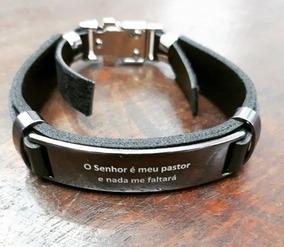 Pulseira O Senhor É Meu Pastor Masculina Bracelete Unissex