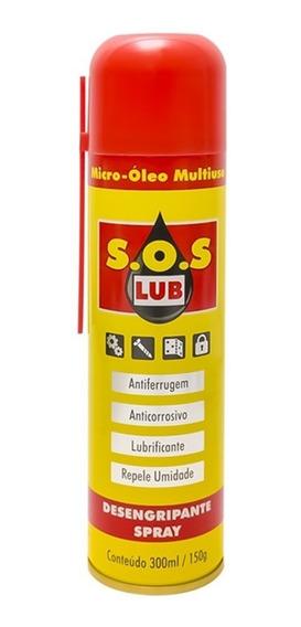 Desengripante Spray S.o.s 300ml/150g - Kit Com 12 Unidades