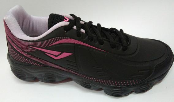 Tenis Bouts 8435 Preto/lilas/pink Fluor Leve Confortável