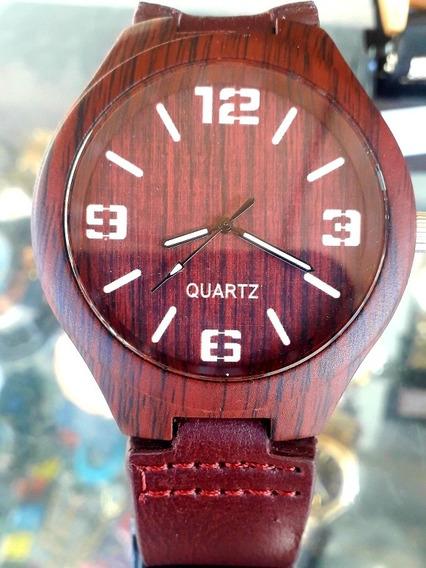 Relógio Woodline Amadeirado