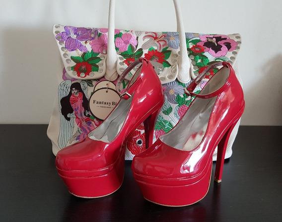 Zapatos Stilettos Rojos Importados