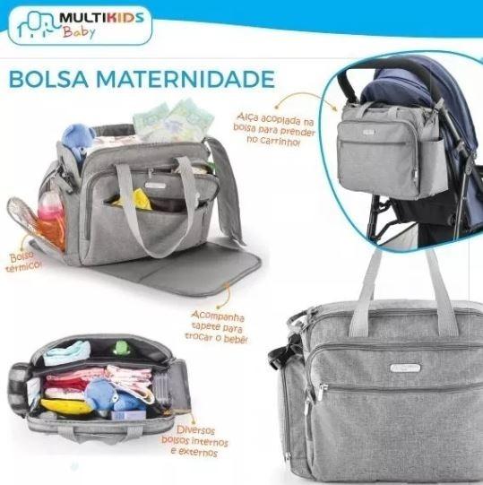 Bolsa Maternidade Unissex Trocador Bolso Térmico Multikids