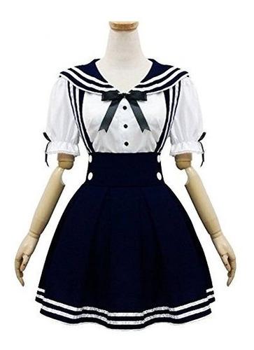 Imagen 1 de 1 de Uniforme Escolar De Japón Cosplay Traje Anime Girl Maid