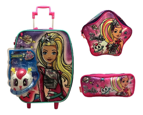 Kit Barbie Sestini : Mala G Rodinhas E Lancheira E Estojo