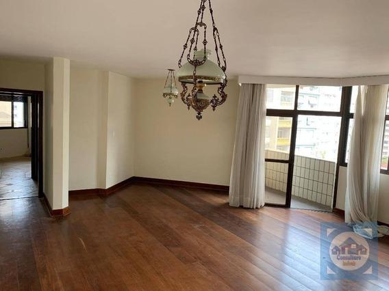 Apartamento Com 4 Dormitórios À Venda, 185 M² Por R$ 743.000,00 - Pompéia - Santos/sp - Ap0911