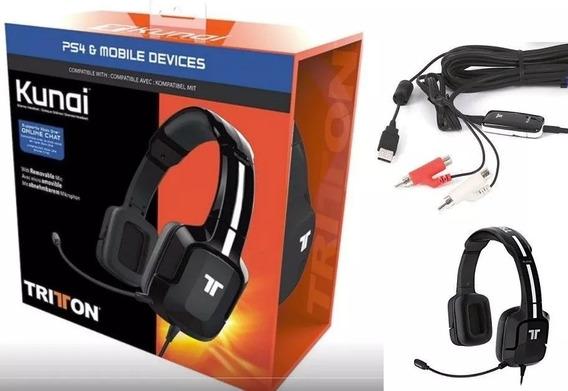 Headset Gamer Tritton Kunai Preto Universal - Ps4