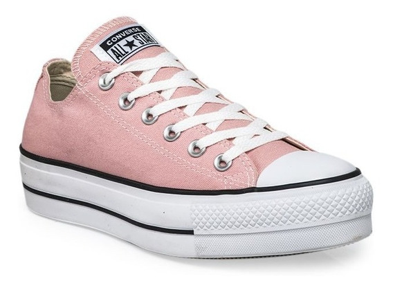 Zapatillas Converse All Star Plataforma Rosa Blanco Mujer
