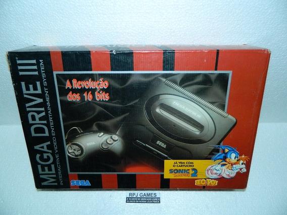 Caixa Vazia Do Mega Drive 3 C/ Isopor Interno - Loja Rj