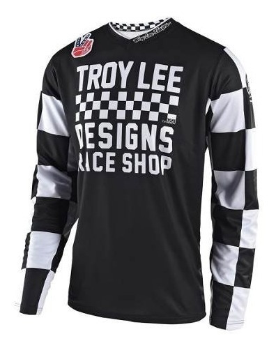 Remera Motocross Troy Lee Gp Checker Negro