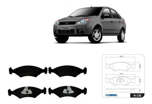 Imagen 1 de 7 de Juego Pastillas De Freno Cobreq Ford Fiesta Max 1.6