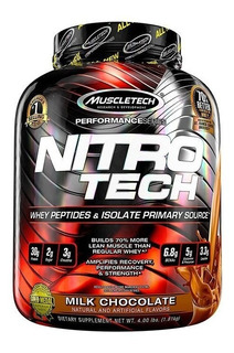 Nitrotech 4 Lbs Whey Protein Isolate Performance