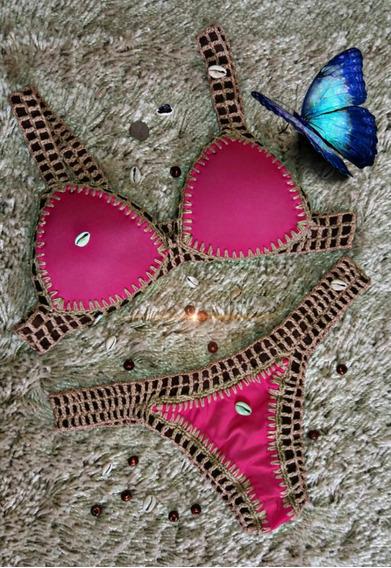 Biquíni Crochê Moda Praia Tam P