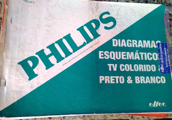 Manual Esquema Elétrico Philips Tv Video Antigos 3 Livros