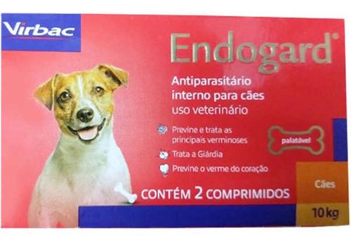 Endogard Vermífugo Para Cães 10kg C/ 2 Comprimidos - Virbac
