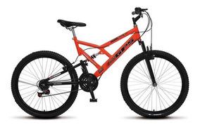 Bicicleta Mtb Colli Aro 26 Dupla Suspensão 21 Marchas Freio