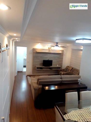 Apartamento Com 2 Suítes (sala Estendida) 2 Vagas De Garagem De À Venda No Condomínio Supera , 86 M² Por R$ 630.000 - Vila Leonor - Guarulhos/sp - Ap0139