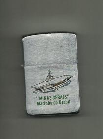 Isqueiro Zippo Porta Aviões Minas Gerais Marinha Do Brasil