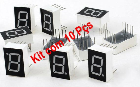 Kit 10 Displays 7 Segmentos 0.56 Vermelho Catodo Comum