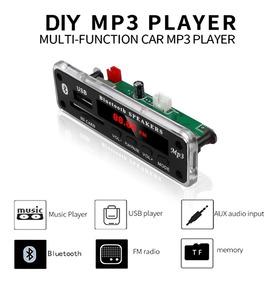 Placa Mp3 Usb, Fm, Leitor Kit Com 5 Peças