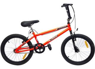 Bicicleta Rodado 20 Bmx Arrow Cuadro Acero + Pie + Reflector