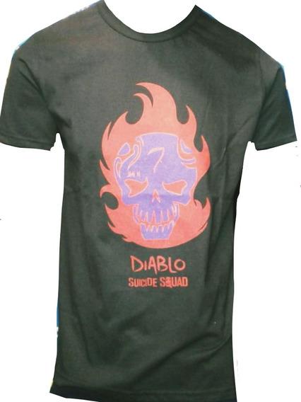 Remera Diablo Joker Escuadron Suicida. Serigrafia