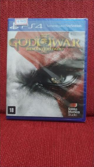 God Of War Iii Remasterizado Ps4 Mídia Física Lacrado R.9905