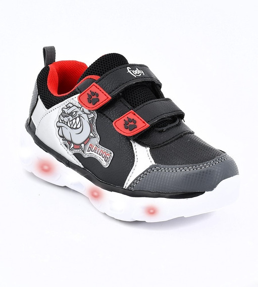 Zapatillas Footy Con Luces Led Y Abrojos Tiburon Shark