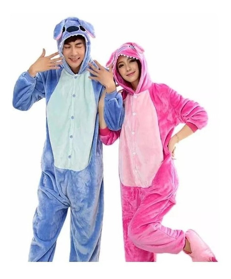Pijama Mameluco Junior Adulto Stitch Angel Afelpado