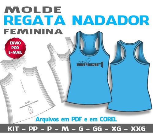 Molde Regata Feminina Nadador - Pp Ao Xxg (pdf E Cdr)