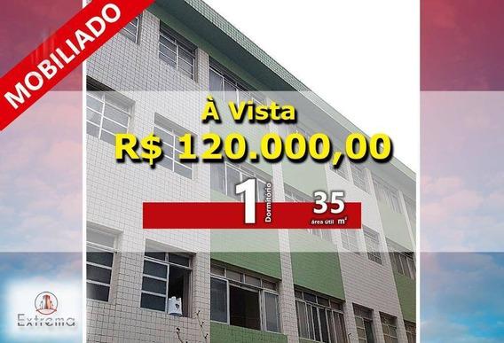 Kitnet Com 1 Dormitório À Venda, 35 M² Por R$ 120.000,00 - Aviação - Praia Grande/sp - Kn0135