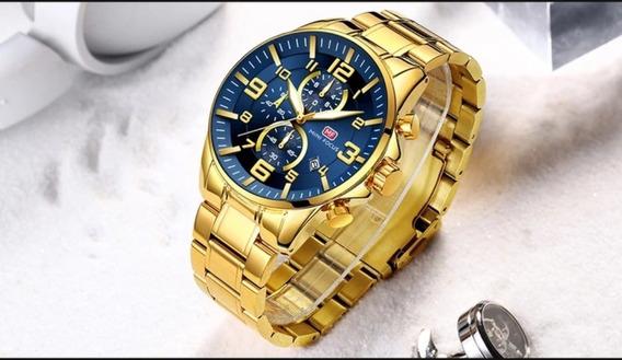 Relógio Masculino Luxo Inoxidável A Prova D