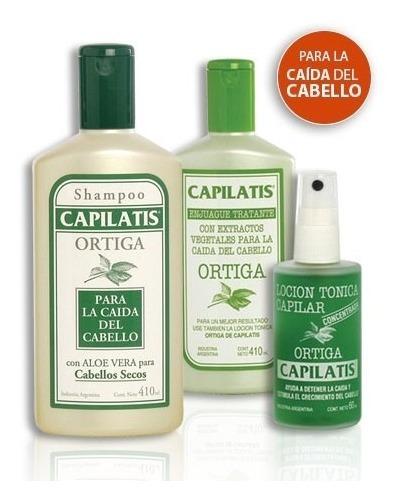 Anticaída Capilatis Ortiga Shampoo Enjuague Loción Cab Seco