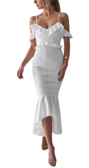 Vestido De Fiesta, Novia, Coctel Color Blanco Ym02