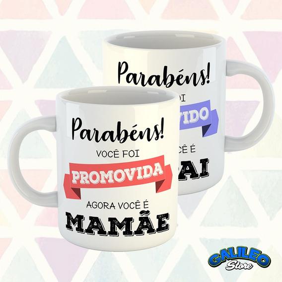 Canecas Promovidos (mamãe E Papai) - Kit Com 2 Unidades