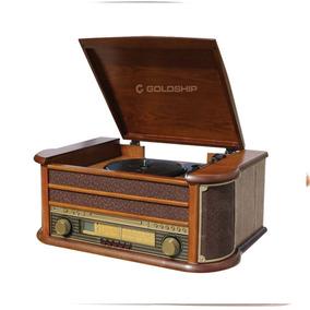 Vitrola Nostalgic Rock Goldship 12w Rms Radio Am/fm- Cd Play
