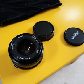 Lente Vivitar Wide Angle 28mm 1:2.8 49mm Com Tampas
