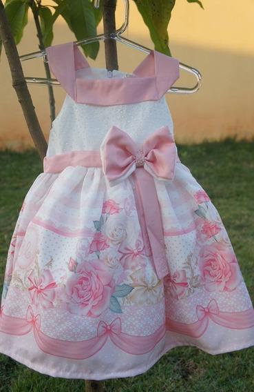 Vestido Infantil De Festa Petit Cherie Laços E Flores