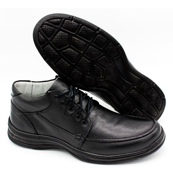 Sapato Masculino Ultra Leve Confort Ortopédico Preto 2710/01
