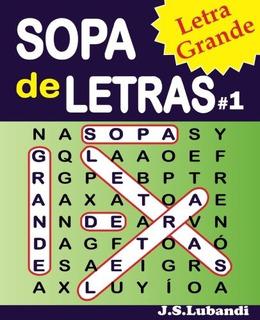 Sopa De Letras 1 Letra Grande Español Busqueda De Palabras E