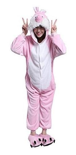 Pink Bunny Disfraces Disfraces Mono Trajes Kigurumi Playsuit