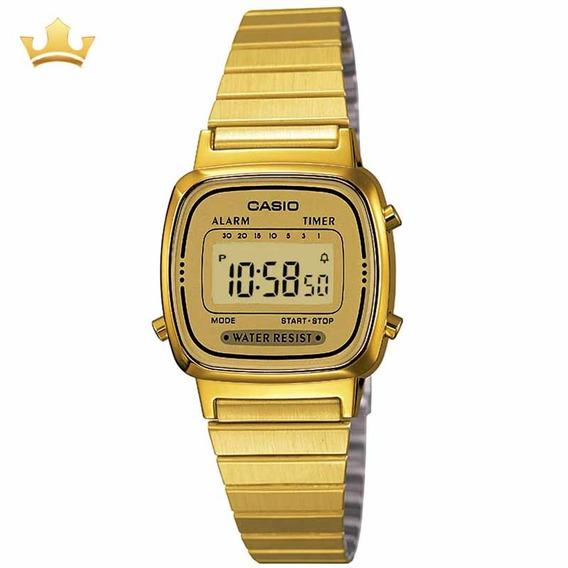 Relógio Casio Feminino La670wga-9df- Vintage Com Nf